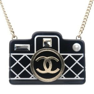 Authentic CHANEL Camera Charm Necklace (New)